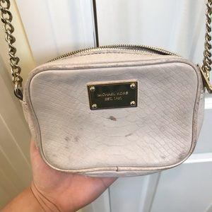 Michael Kors Nude Small Leather Crossbody Bag